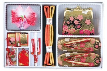 桜柄筥迫セット