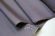 おしゃれ長襦袢 紫地に縞模様 千筋 : 小紋や紬にどうぞ