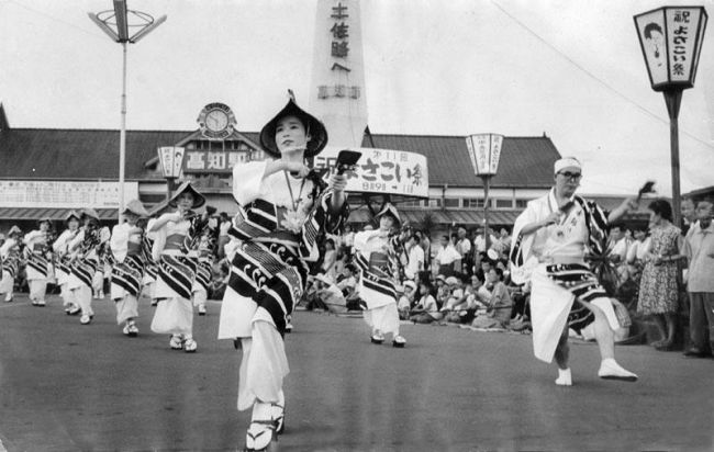 高知駅前よさこい鳴子踊り